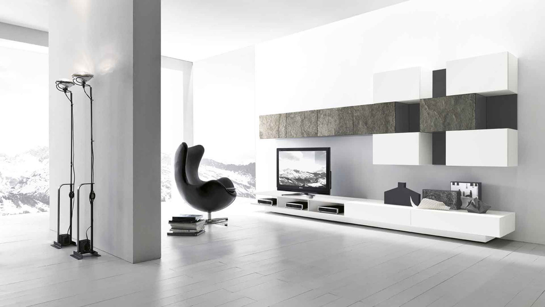Presotto ModulART Modern TV Wall Unit Comp. 223