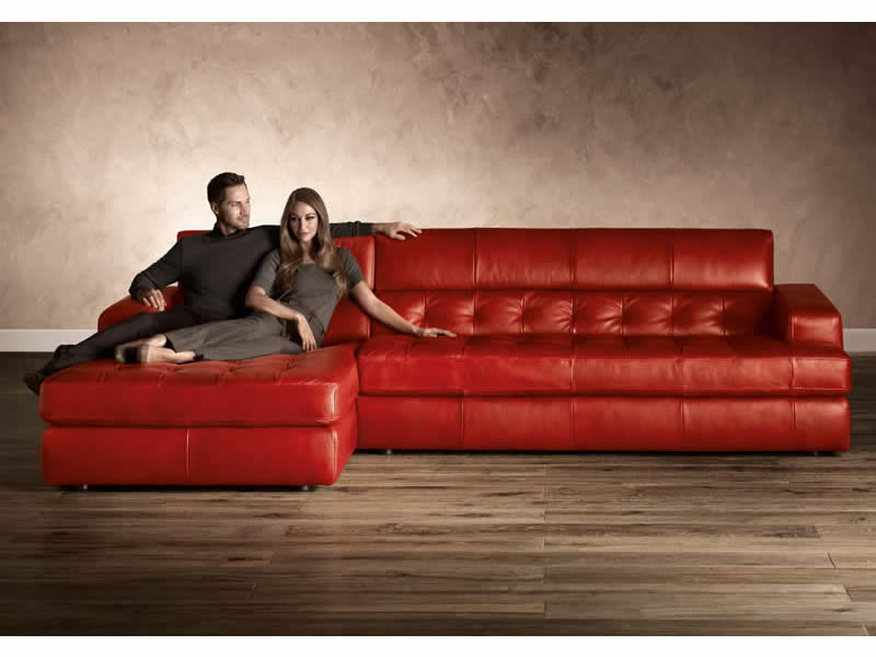 Natuzzi B-748 Leather Sectional