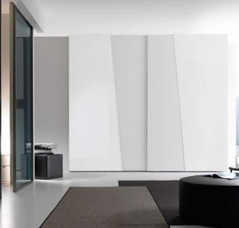 Diagonal Wardrobe With Sliding Door, Presotto Italy