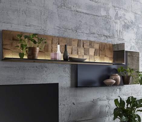 Liv Add On Glass Unit for Wall Panel 1101B/1102B, Planum Furniture Italy