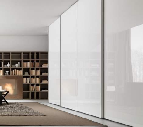 Glass Wardrobe With Sliding Door , Presotto Italy