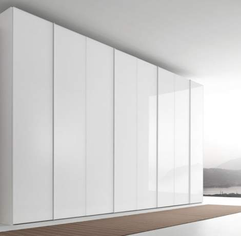 Glass Wardrobes With Hinged Door, Presotto Italy