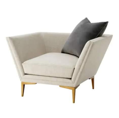Lorne Chair (Brushed Brass), Theodore Alexander