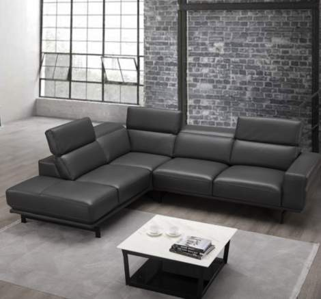 Davenport Leather Sectional