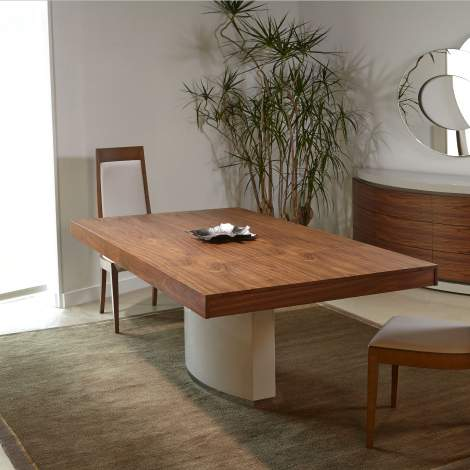 Mediale Rectangular Extension Dining Table w/ Valentino Base, Planum Furniture Italy