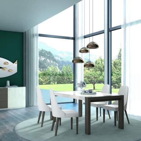 Sliding Rectangular Extension Dining Table, Planum Furniture Italy