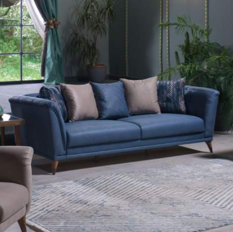 Selegno Melson Blue Sofa
