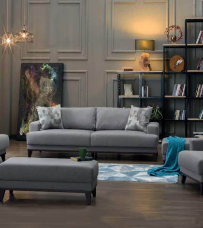 Versailles Remoni Antrasit Sleeper Sofa