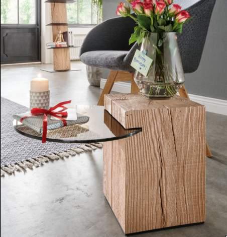 Naturstucke Big Lamp Table, Planum Furniture Italy