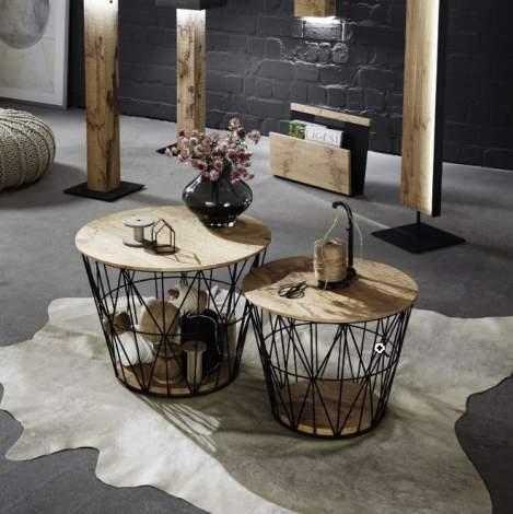 Naturstucke Small Coffee Table, Planum Furniture Italy
