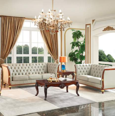 401 Sofa Grey Leather