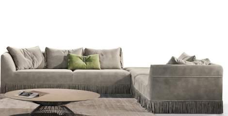 Marilyn Corner Sectional Sofa, Gamma Arredamenti Italy