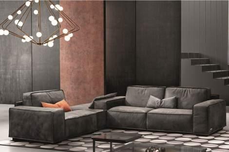 Sacai Sectional Sofa, Gamma Arredamenti Italy