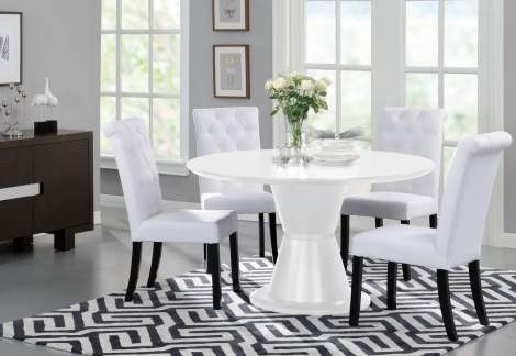 Orbit Round Dining Table, Beverly Hills