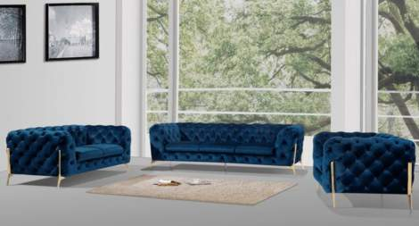 Chester Living Room Furniture Sofa Set by Beverly Hills