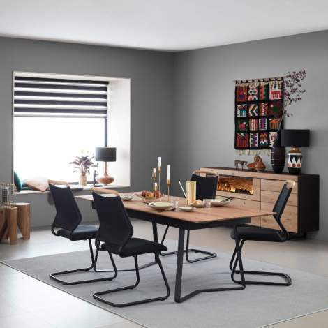 Yoris Middle Extension Dining Table, Planum Furniture Italy
