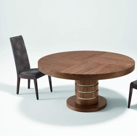 Avantgarde Round Extension Dining Table, Planum Furniture Italy