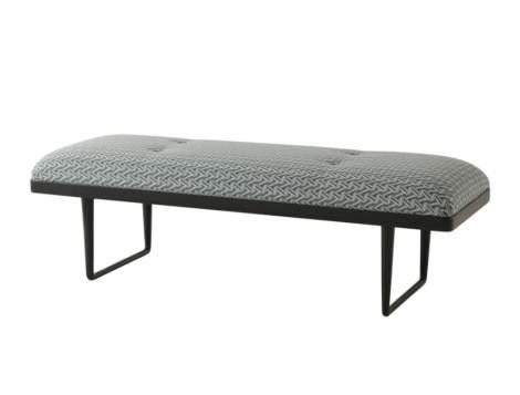 Hamlin Upholstered Bench, Theodore Alexander
