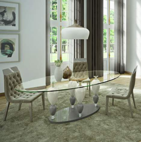 Imperador Oval Dining Table, Planum Furniture Italy