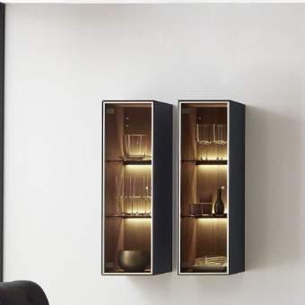 Liv Wall Display Cabinet 6033B/6034B, Planum Furniture Italy