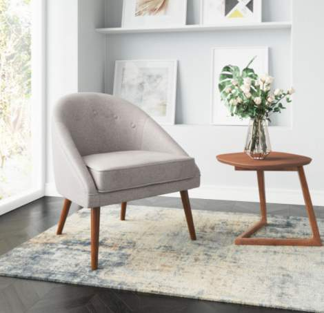 Cruise Chair Accent Gray, Zuo Modern