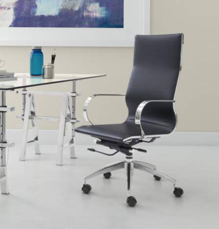 Glider High Back Office Chair, Zuo Modern