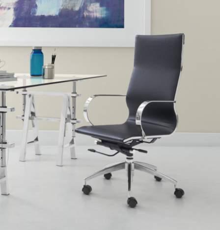 Glider High Back Office Chair, Zuo Modern