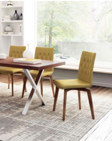 Orebro Dining Chair (Set of 2), Zuo Modern