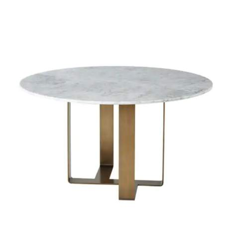 Adley Marble Round Dining Table, Theodore Alexander