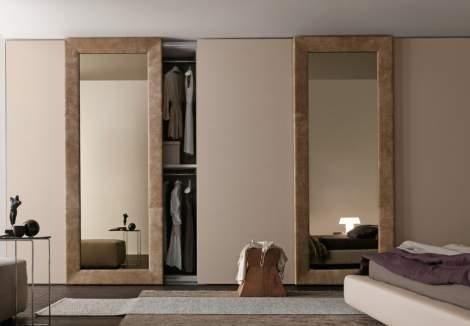 Mirror Wardrobe With Sliding Door, Presotto Italy