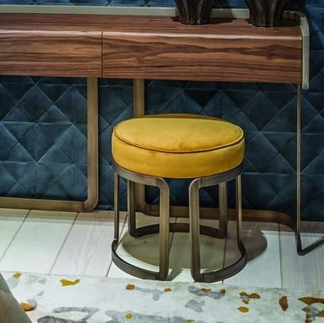 Riviera Upholstered Stool, Planum Furniture Italy