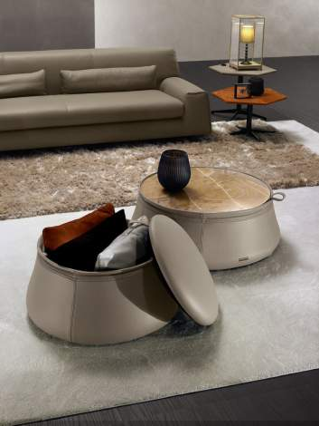 Sack Coffee Table and Pouf, Prianera Italy