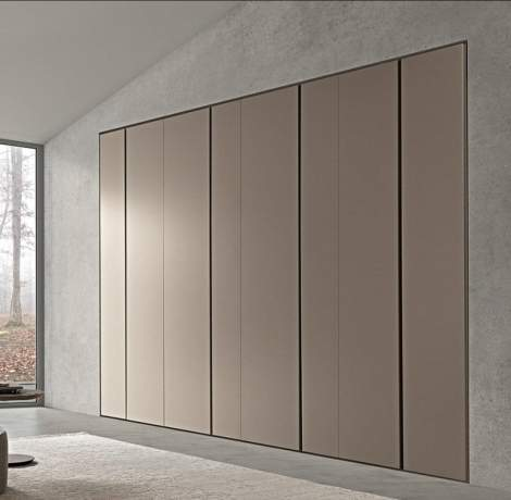 Twin Wardrobes With Hinged Door, Presotto Italy