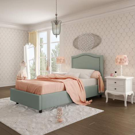 Elegance Upholstered Kids Bed, Amisco Canada