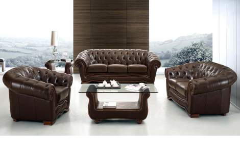 262 Leather Living Room Furniture Sofa Set, ESF