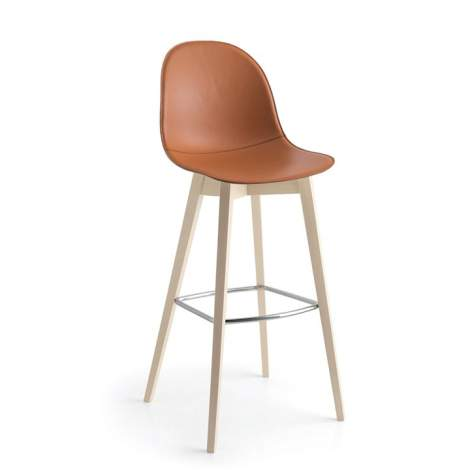 CB/1673-LHS Academy W Bar Stool, Connubia by Calligaris Italy