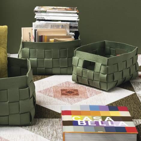CS/7153 Alvin Set of 3 Storage Basket, Calligaris Italy
