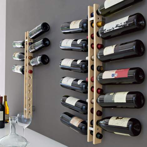 CB/5052 Arsenal Wooden Bottle Rack, Connubia by Calligaris Italy