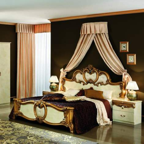 Barocco Ivory With Gold Bed, Camelgroup Italy