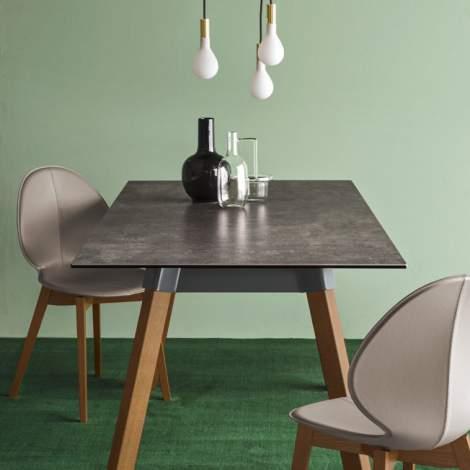 CS/1348-LHS Basil W Dining Chair, Calligaris Italy