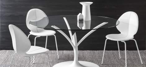 CS/1359-LHS Basil Dining Chair, Calligaris Italy