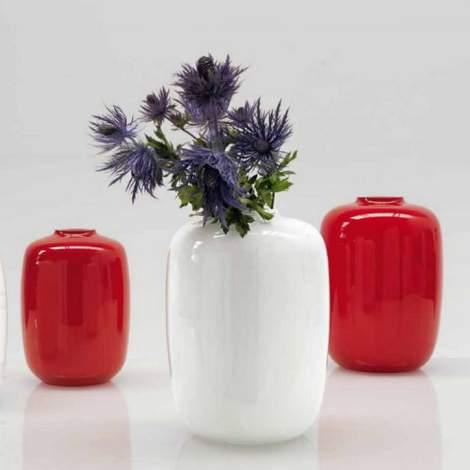 CS/7111-B Blanco Glass Vase, Calligaris Italy