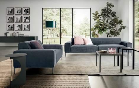 Boston Sofa with plain back, Pianca Italy