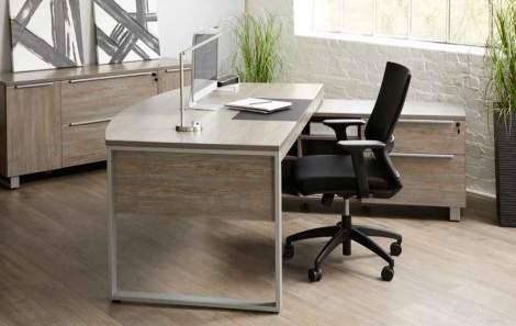 """75"""" Bowfront Desk, Unique - Kalamar Collection"""