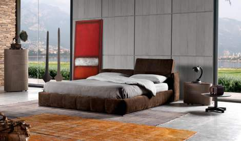 Karma Leather Bed, Cierre Italy