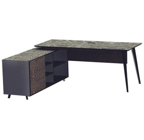 Oslo Executive Desk with File Cabinet, Unique Furniture