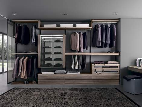 Varius-Varius Free Walk-in Closet Arrangement #4, Presotto Italy