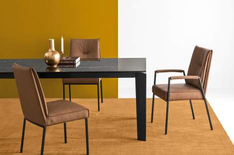 CS/1907-LH Romy Chair With Arms, Calligaris Italy
