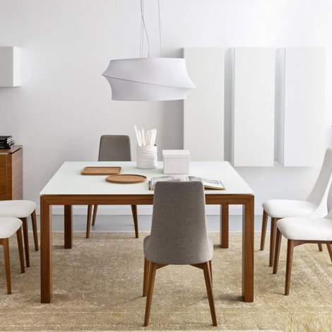 CB/4069-LV 140 Sigma Glass Dining Table, Connubia by Calligaris Italy