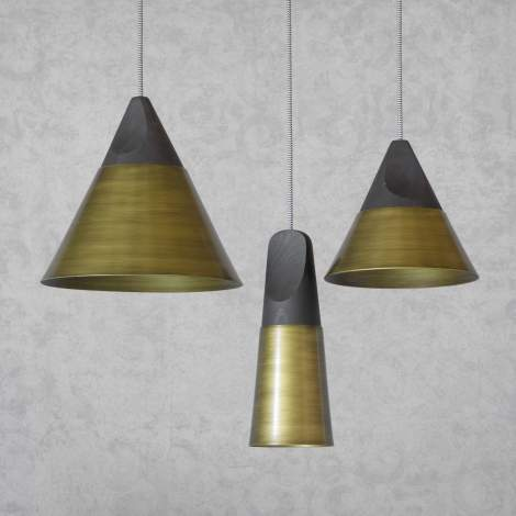 Slope Bronze Ceiling Lamp, Miniforms Italy